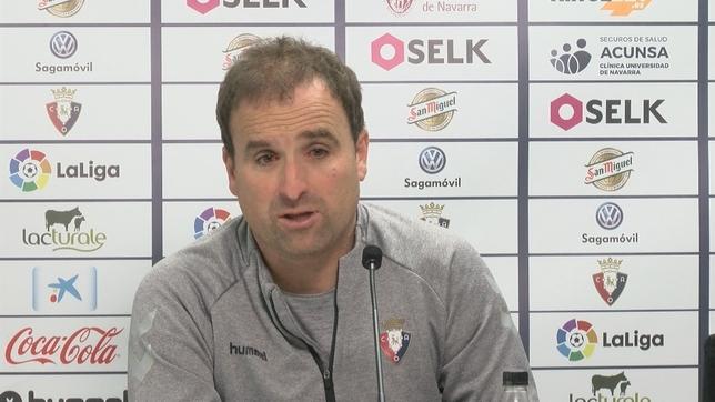 Jagoba Arrasate en su comparecencia previa al Osasuna- Mallorca NATV
