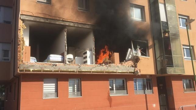 Un herido en una explosión de gas en la barriada San Juan