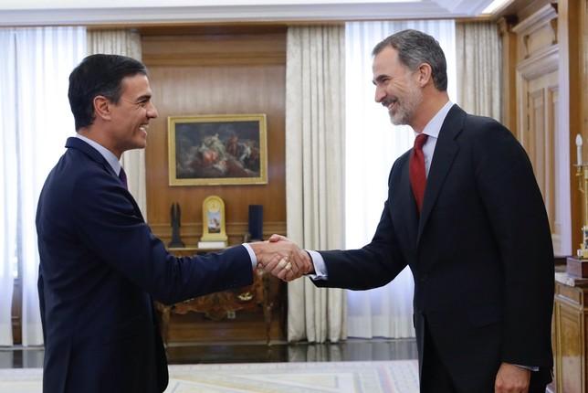 El Rey propone a Sánchez como candidato a Jefe del Ejecutivo