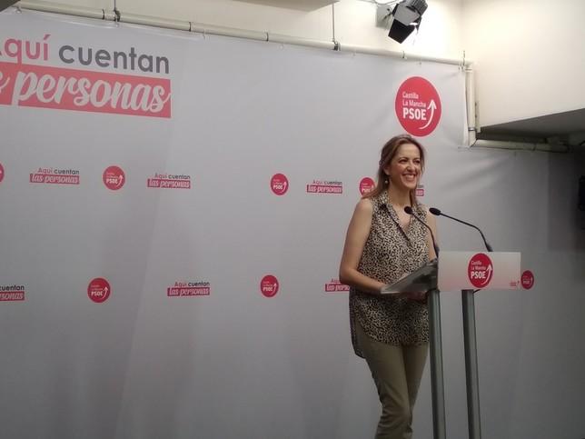 Cristina Maestre, vicesecretaria y portavoz del PSOE regional.