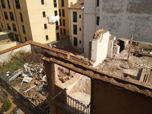 Derribo del edificio de plaza Mayor