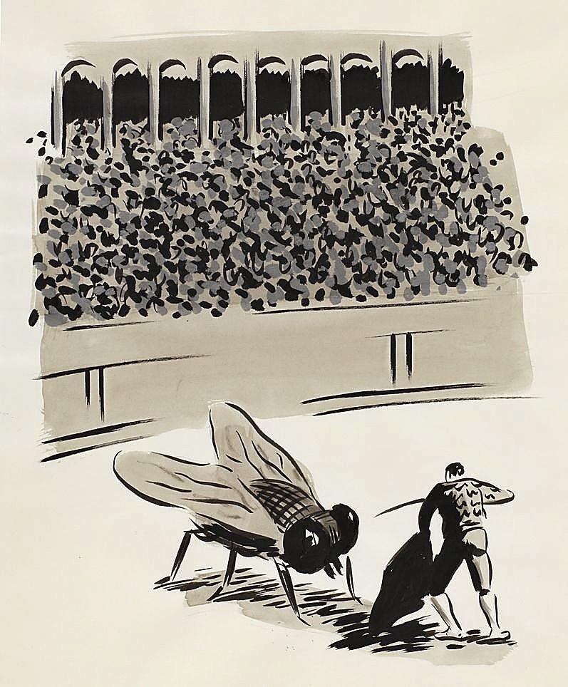 Una estampa de Rábago sobre la tauromaquia.
