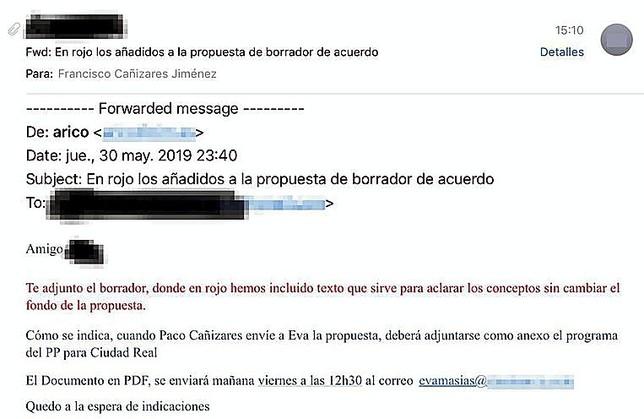 Los documentos que demuestran la negociación entre PP y Cs