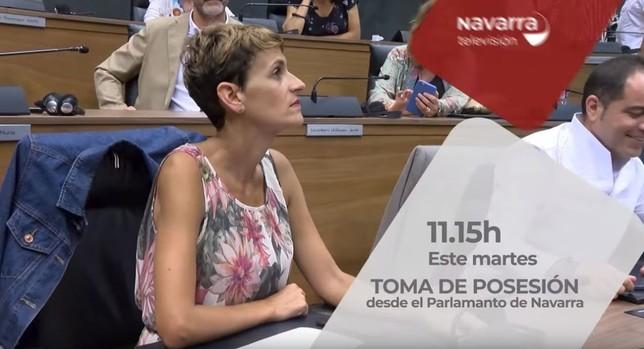 Navarra Televisión, en la toma de posesión de María Chivite