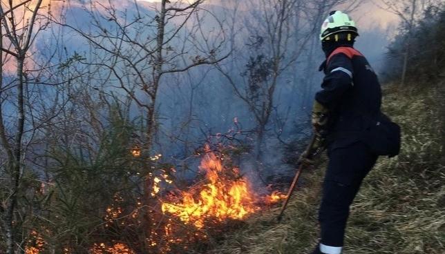 Incendios forestales en Goizueta, Irurita y Beintza-Labaien