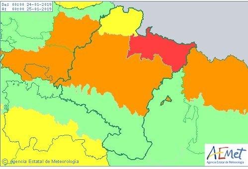 Navarra sigue en alerta por posibles fuertes nevadas