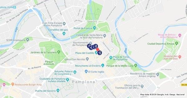 El Casco Viejo de Pamplona quedará inhabilitado este domingo Policia Municipal