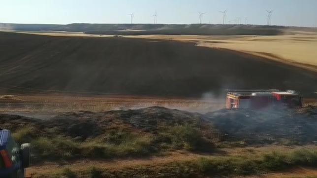 Un incendio forestal calcina 10 hectáreas en Radona