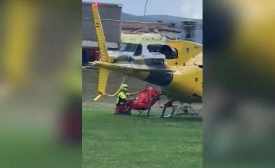 Rescatada en helicóptero una peregrina en Zubiri