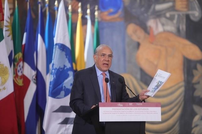 Ángel Gurria, presidente del OCDE. Foto de archivo