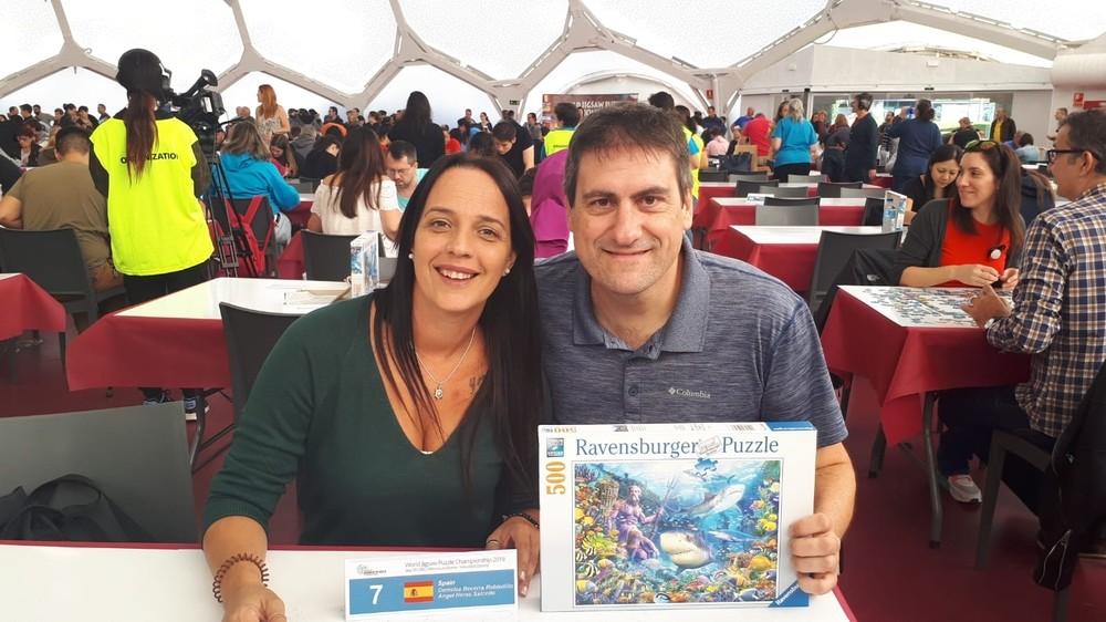 Ángel Heras, campeón del mundo de puzzle por parejas