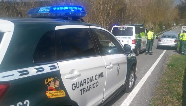 Detenido un polaco por conducción temeraria en la N-121-A Guardia Civil