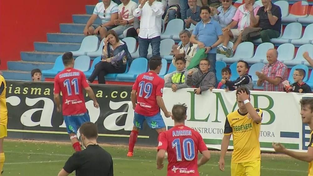Un conocido de la afición navarra como Jorge anotó el único tanto del partido