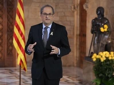 Torra apela a la mediación internacional en Sant Jordi