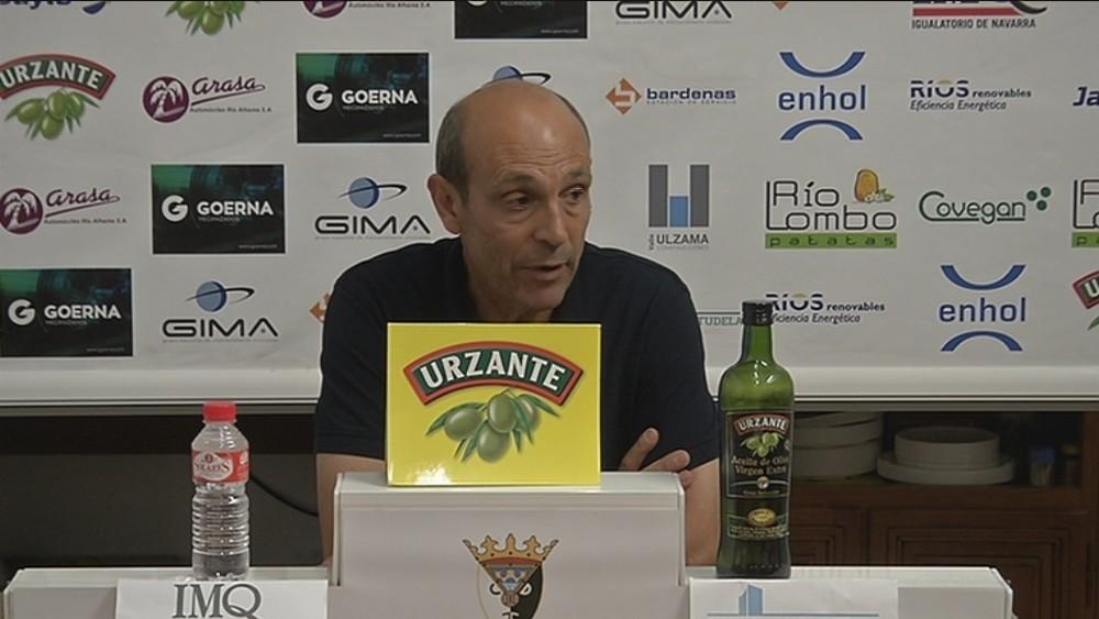El entrenador del Tudelano, José Mari Lumbreras, se mostró satisfecho con el empate.