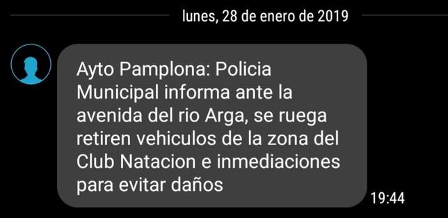Pamplona activa la alerta por la crecida del Arga