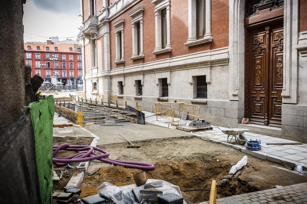Estado de las obras del aparcamiento de la Plaza Mayor Jonathan Tajes
