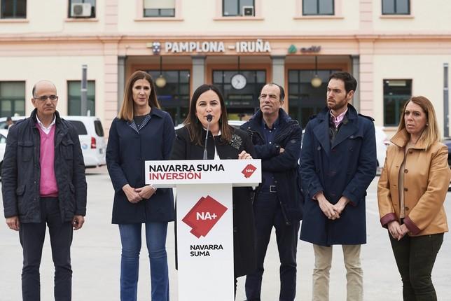 Navarra Suma apuesta por infraestructuras como el TAV PABLO LASAOSA