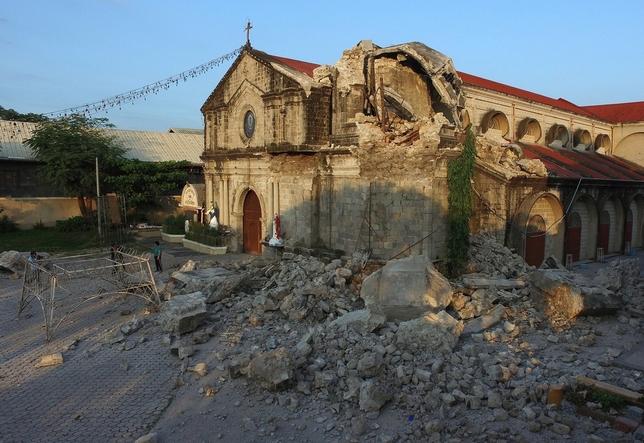Ascienden a 16 los muertos en el terremoto de Filipinas FRANCIS R. MALASIG