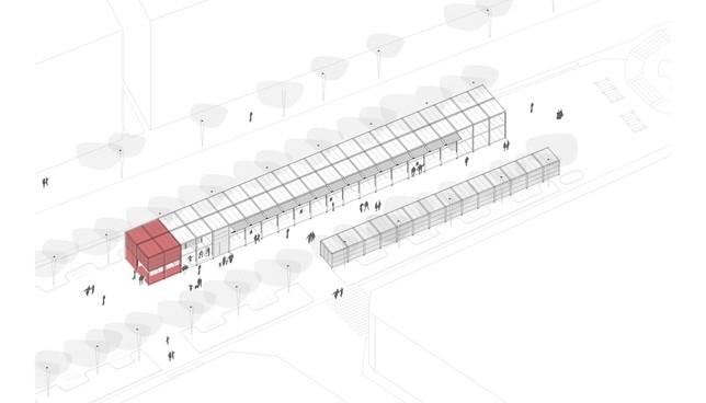Plano del proyecto de Carlota Esquíroz y Patricia Rey Baltar. Universidad de Navarra