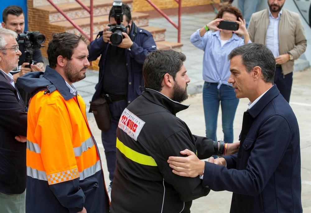 Sánchez dice que no escatimará recursos en la zonas afectadas
