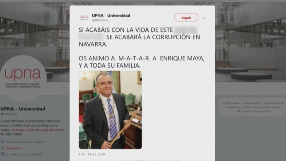 Hackean la cuenta de Twitter de la UPNA y se ceban con Maya