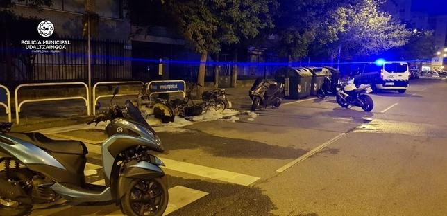 Prisión por quemar varios vehículos estacionados en Pamplona Policia Municipal