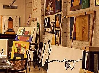 El taller del artista.