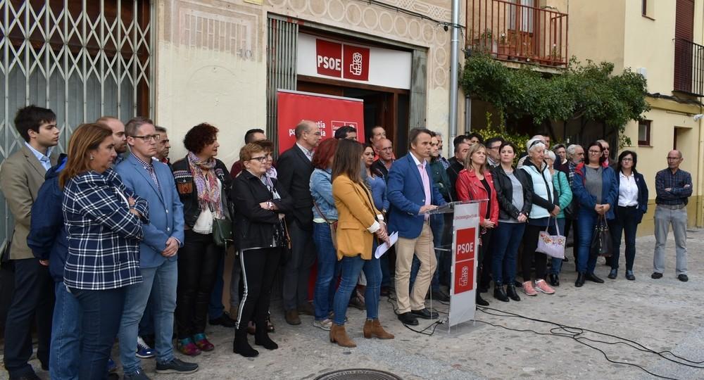 Alcaldes y concejales del PSOE, esta mañana