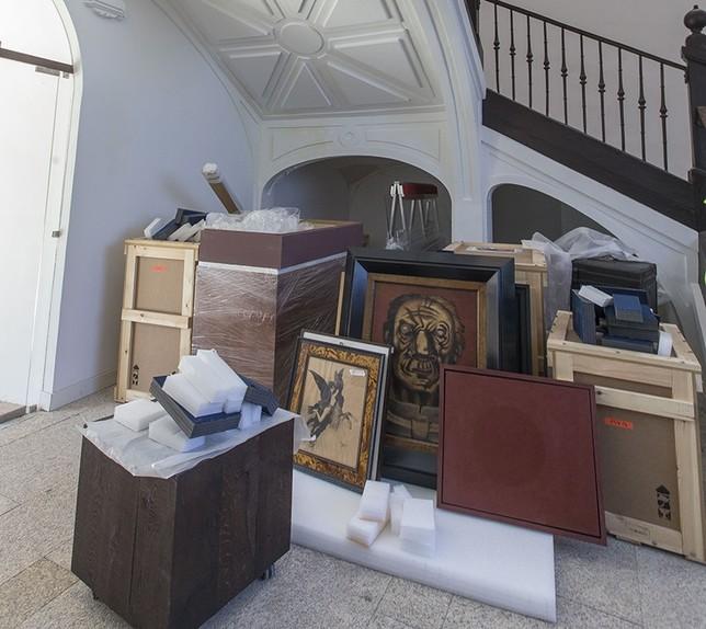 Una obra de María Roosen ocupará la escalera de acceso a la segunda planta.