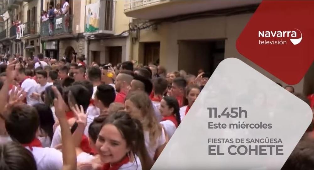 Navarra TV te ofrece en directo el cohete de Sangüesa
