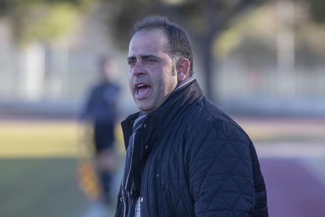 Faustino Manzanero, técnico del CD Villacañas Pablo Lorente