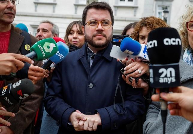 Pere Aragonés rechaza declarar ante el tribunal del procés Emilio Naranjo