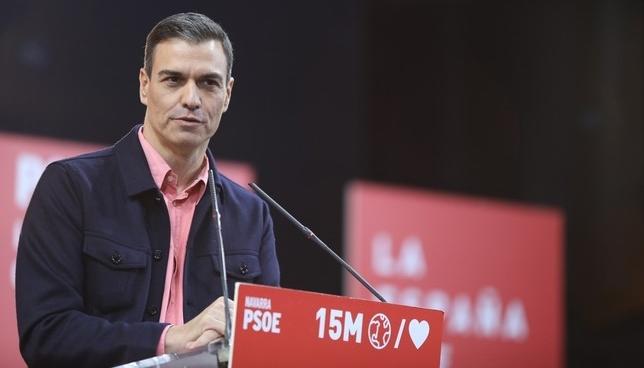 Pedro Sánchez visitará Pamplona el próximo 16 de mayo