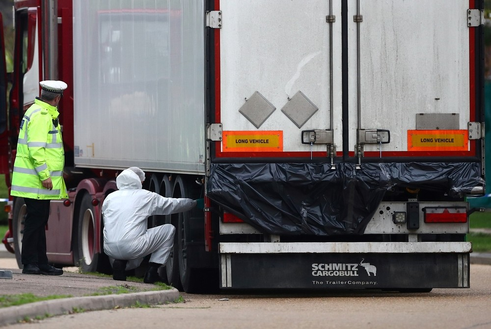 Los 39 cadáveres hallados en un camión en Essex eran chinos