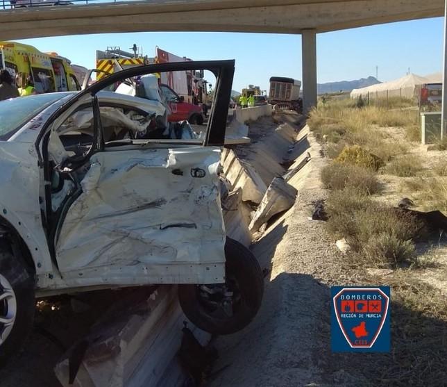 Dos vecinos de Ciudad Real mueren en un accidente en Murcia