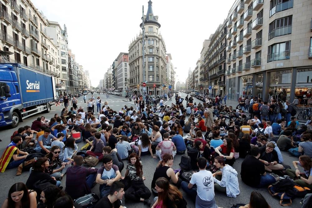 Agreden a una mujer en las protestas de Tarragona