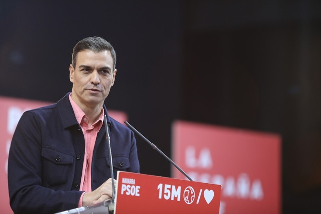 Sánchez garantiza que el PSN no pactará con EH Bildu