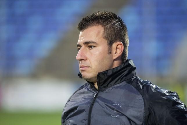 Andrés Viñas, entrenador del Calvo Sotelo Puertollano. Pablo Lorente