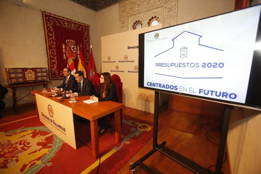 Presentación de los presupuestos en la Diputación de Valladolid