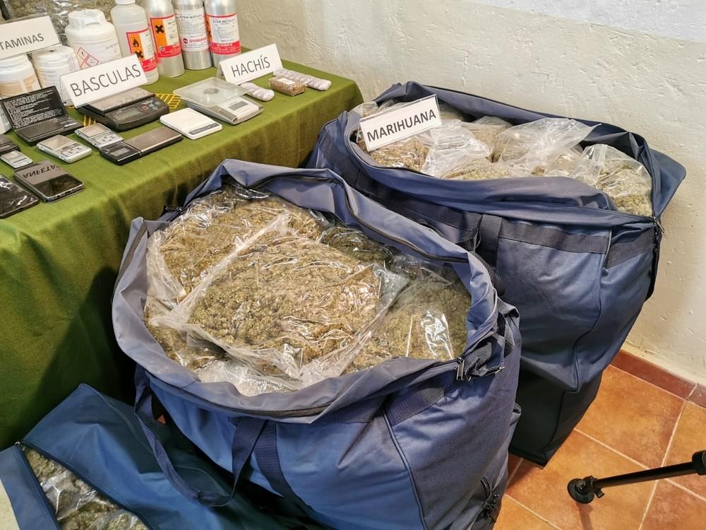 Macrooperación policial contra el cultivo y tráfico de droga