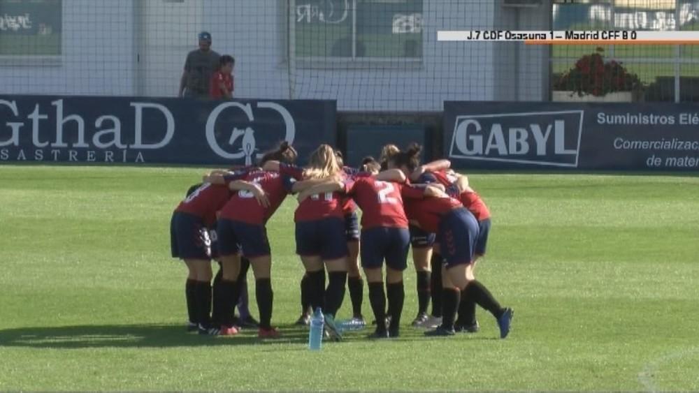 Osasuna femenino sigue imparable y vence al Madrid CFF B
