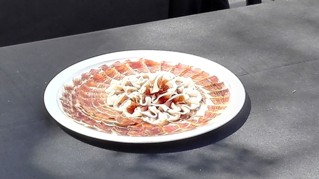Este es el plato que ha ganado el premio de creatividad. Es del cacereño Juan Antonio Barbero