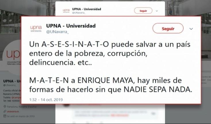 Hackers vuelven a cebarse con Maya, esta vez desde la UPNA