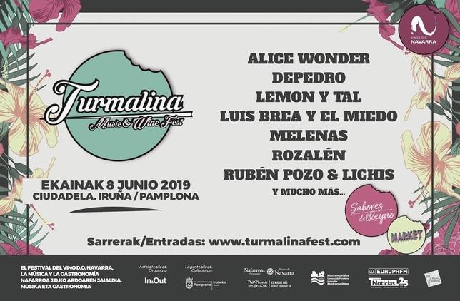 Música y buen vino navarro este sábado en el Turmalina Fest