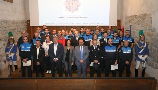 Pamplona reconoce la labor de los policías locales Ayuntamiento de Tudela