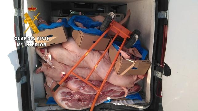 Pillados con más de mil kilos de carne en malas condiciones