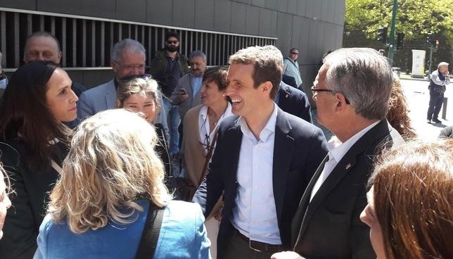 """Casado, en Pamplona: """"Respetamos el Fuero y el Convenio"""" Europa Press"""