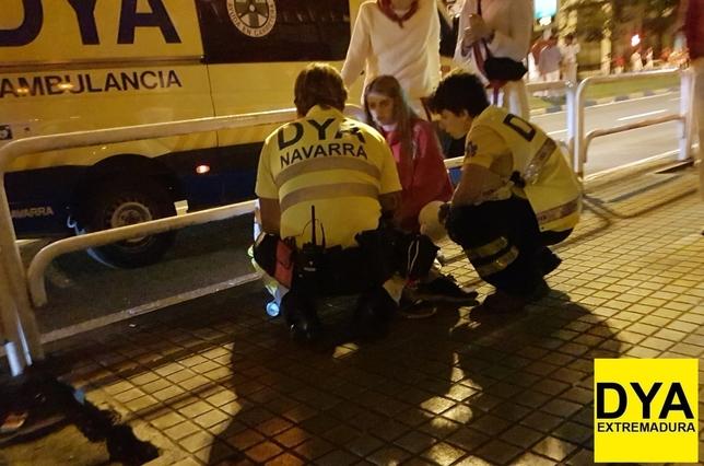 49 atenciones médicas en las primeras horas de San Fermín