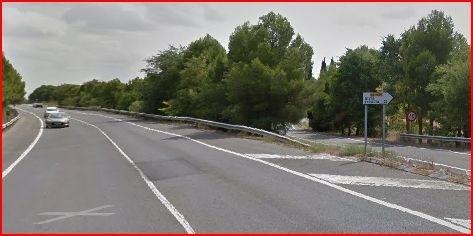 Imagen de archivo de la carretera N-121 a su paso por Olite Google maps